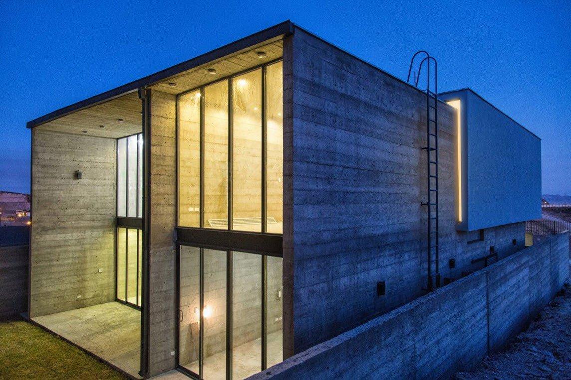 Construcción con acabado de concreto