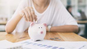 Alcancía para ahorrar dinero