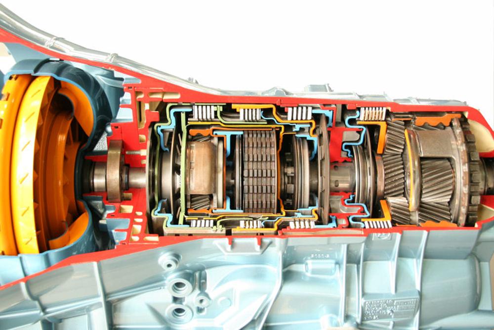 diagrama del interior de una transmisión automática de auto