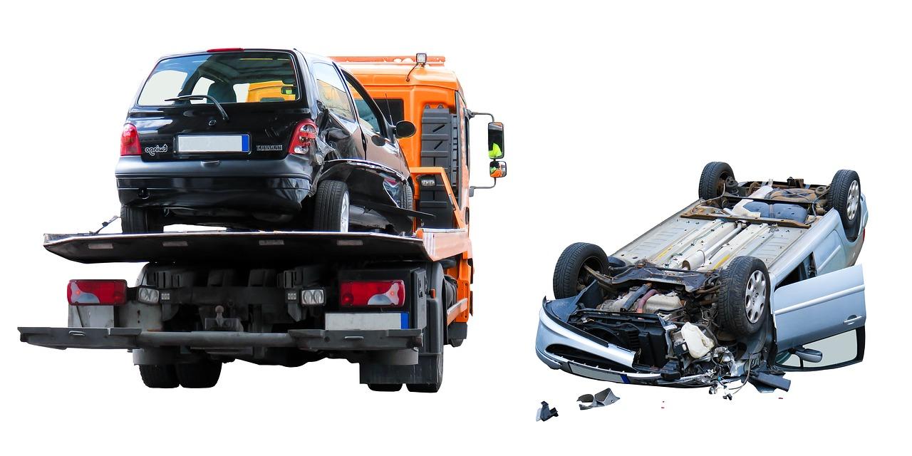 accidente de dos automóviles